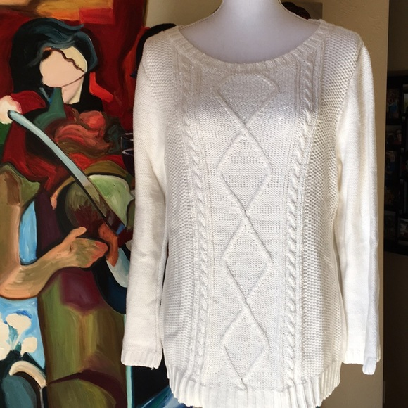 Karen Scott Sweaters - Sparkling Snow Sweater